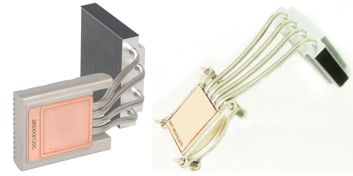 Heatsink using heat pipes and vapor chamber