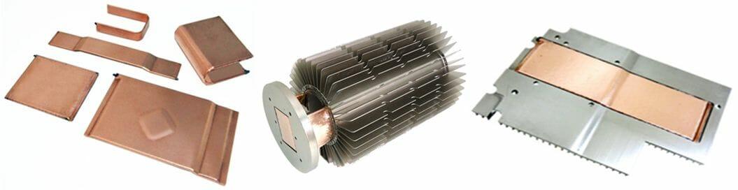 Inexpensive vapor chamber heat sinks