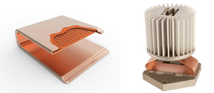 One-Piece Vapor Chamber Cutaway & Heat Sink